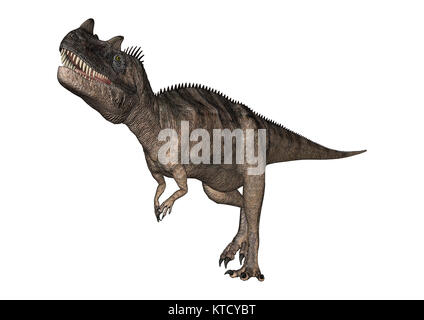 3D Rendering Dinosaur Ceratosaurus on White - Stock Photo