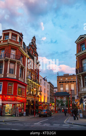 LONDON, UK - JUNE 17, 2013: Macclesfield Street Chinatown area in Soho, City of Westminster - Stock Photo