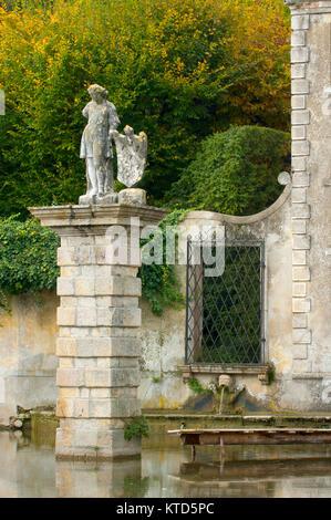 Italien, Veneto, Valsanzibio, Deatail vom Diana Tor am Garten der Villa Barbarigo - Stock Photo