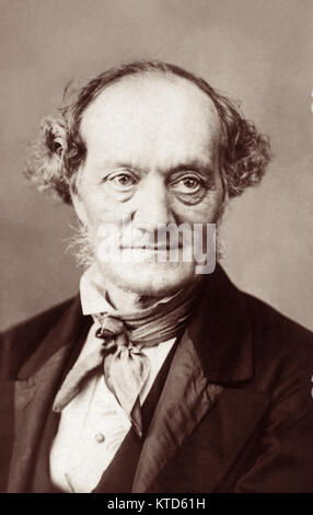 Sir Richard Owen KCB FRMS FRS (1804-1892) in an 1860s portrait. - Stock Photo