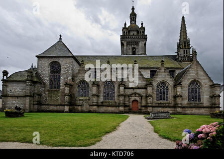 Église Notre-Dame de Saint-Thégonnec. Church Notre-Dame of Saint-Thégonnec in Finistere, Brittany, (Bretagne), France - Stock Photo