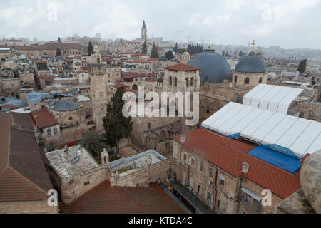 Church of the Holy Sepulchre, Christian Quarter of the Old City of Jerusalem, Israel. - Stock Photo