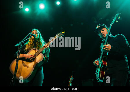 The Swedish singer and songwriter Rebecca Hasth performs a live concert at VEGA in Copenhagen. Denmark, 15/06 2015. - Stock Photo