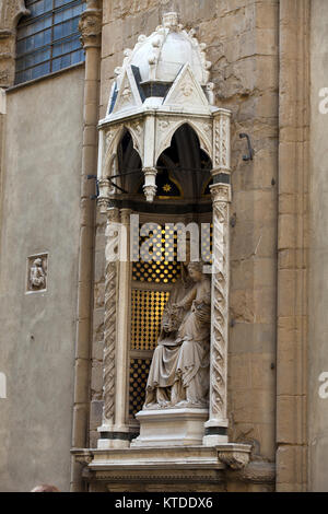 Florence - Church of Orsanmichele. Virgin and Child - Stock Photo