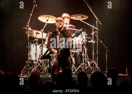 The British rock band Wishbone Ash performs a live concert at Amager Bio in Copenhagen. Here singer and guitarist - Stock Photo