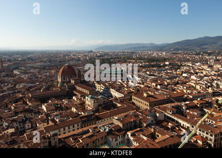 The view on Florence  from the dome Duomo - Stock Photo