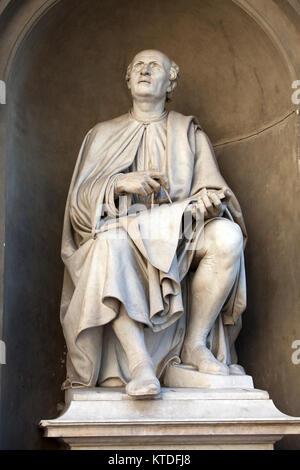 Statue of the famous architect Bruneleschi - Florence. - Stock Photo