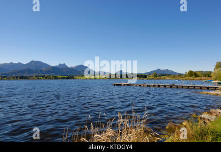 Hopfensee, Hopfen am See, OstallgŠu, AllgŠu, Bayern, Deutschland, - Stock Photo