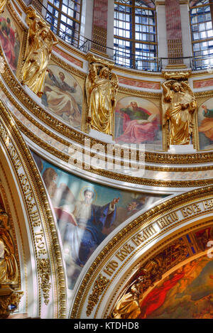 Interior Belfry, St Isaac's Cathedral, UNESCO World Heritage Site, St Petersburg, Russia - Stock Photo