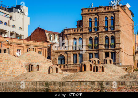 TBILISI, GEORGIA - OCTOBER 15: Old sulphur baths in old town, one of the tourist attractions. October 2016 - Stock Photo