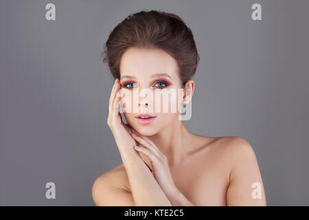 Perfect Woman. Healthy Skin and Hair. Spa Concept - Stock Photo