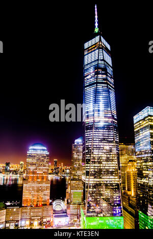 One World Trade Center Freedom Tower NYC - Stock Photo