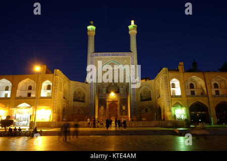The main entrance of the Shah Mosque in Isfahan, Iran - Stock Photo