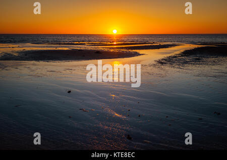 Sunset at Coral Bay in Australia's north-west. - Stock Photo