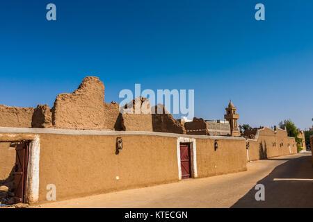 Traditional Arab mud brick architecture in Al Majmaah, Saudi Arabia - Stock Photo