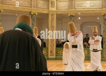 APRIL 21,2013 ISTANBUL.Sufi whirling  (Turkish: Semazen) is a form of Sama or physically active meditation which - Stock Photo