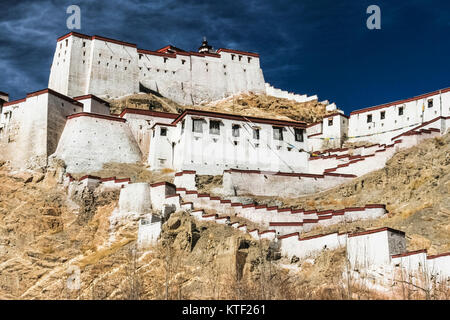 Gyantse dzong fort, Tibet - Stock Photo