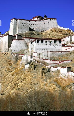 Gyantse dzong fort, Tibet - Stock Photo
