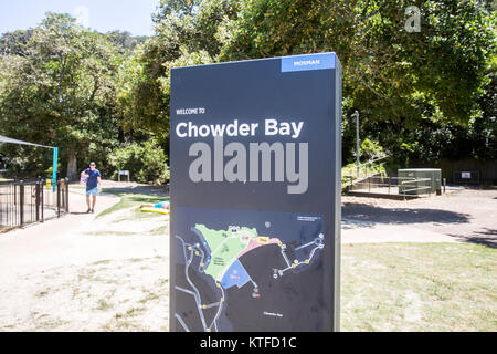 Chowder Bay is located at the southern end of Middle harbour peninsula, in Sydney north, new south wales,Australia - Stock Photo