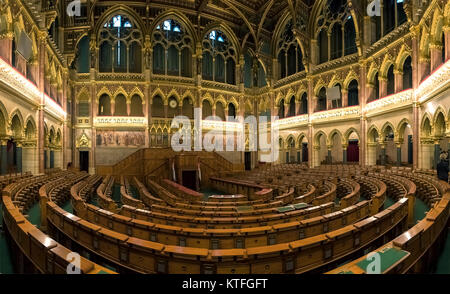 Hungarian parliament interior view - Stock Photo