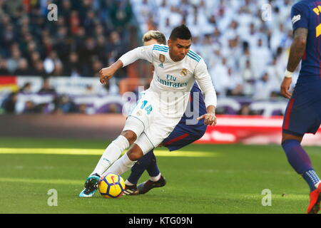 Madrid, Spain. 23rd Dec, 2017. Casemiro (Real) Football/Soccer : Spanish 'La Liga Santander' match between Real - Stock Photo