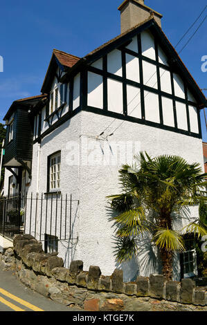 Mock Tudor style house in North Wales - Stock Photo