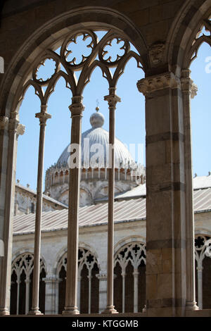 Pisa - Camposanto - Cemetery was constructed in 1278 to house the sacred dirt brought back from Golgotha during - Stock Photo