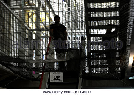Embargoed to 0001 Tuesday December 26 File photo dated 29/04/13 of the inside of a prison. New figures reveal that - Stock Photo