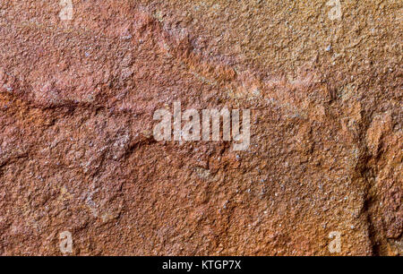 Red brown stone background texture of the flagstone - Stock Photo