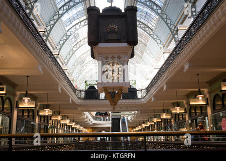 historic shopping mall queen victoria building in sydney - Stock Photo
