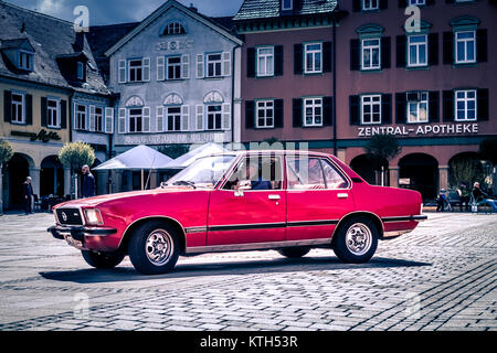 Ludwigsburg, Germany - April 23, 2017: Opel Commodore oldtimer car at the eMotionen event on April 23, 2017 in Ludwigsburg, - Stock Photo