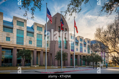 Frisco City Hall in Frisco, Texas. Frisco is a city in Collin and Denton counties in Texas, in the Dallas-Fort Worth - Stock Photo