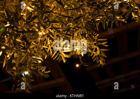 Christmas decoration. Christmas Decorative Lights. Fuengirola, Costa del Sol, Andalusia, Spain. - Stock Photo