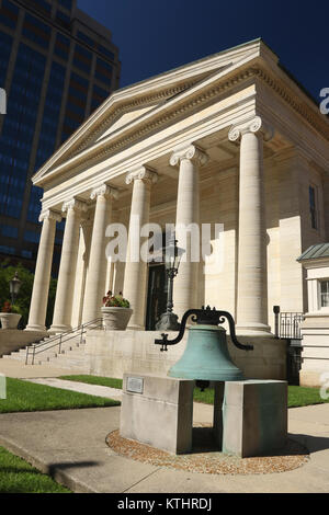Historic Dayton Courthouse.  Old courthouse, now museum. Greek Revival temple architecture.  Circa 1850. Dayton, - Stock Photo