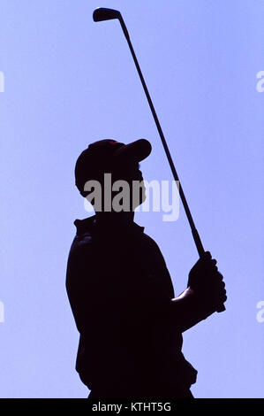 Tiger Woods competing at the 1999 Bay Hill Invitational - Stock Photo