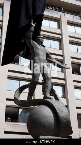 A statue of Yuri Gagarin, the first man in space, was today unveiled outside the British Council's London HQ in the Mall to mark the 50th anniversary of the first manned space flight. Today, 14 July 2011, it is exactly 50 years to the day that Gagarin met the Queen as part of his visit to the UK in 1961. The unveiling of the statue was carried out by the cosmonaut's daughter Elena Gagarina, now Director fo the Kremlin Museums in Moscow and HRH Prince Michael of Kent.  The statue will be installed in the Mall for a period of 12 months.