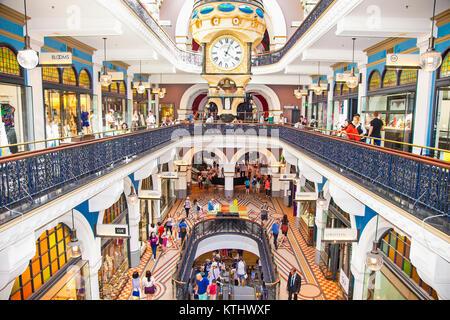 SYDNEY, AUSTRALIA-DEC 21, 2014: People shop at Queen Victoria Building (QVB) on Dec 31,2014 in Sydney, Austalia. - Stock Photo
