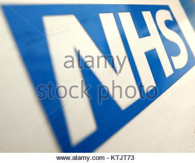 Embargoed to 0001 Tuesday December 26 File photo dated 07/12/10 of the NHS logo, as more than 45 million hours have - Stock Photo