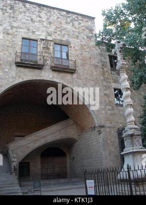 Barcelona   ex Hospital de la Santa Creu 03 - Stock Photo