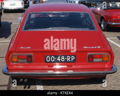 Audi 100 Coupe S, build in 1977, Dutch licence registration 00 48 RP, at IJmuiden, The Netherlands, pic1 - Stock Photo