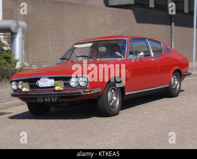 Audi 100 Coupe S, build in 1977, Dutch licence registration 00 48 RP, at IJmuiden, The Netherlands, pic5 - Stock Photo