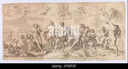 Bacchus with his companions discovering Ariadne on the island of Naxos, after Reni MET DP 12571 001 - Stock Photo
