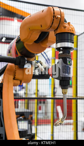 welding robot for automotive industry ; close up - Stock Photo