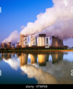 Drax coal fired Power Station, Yorkshire, England, UK - Stock Photo
