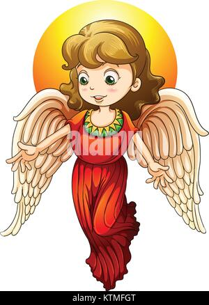 illustration of a fairy on a white background - Stock Photo