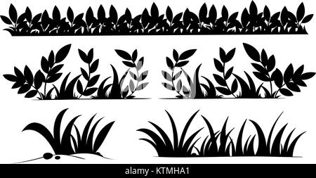 Illustration of grass silhouettes - Stock Photo