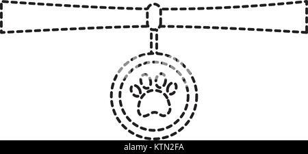 pet necklace medal identity animal vector illustration - Stock Photo