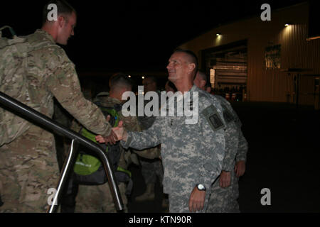 ALBANY, N.Y. -- Maj. Gen. Patrick Murphy, the Adjutant General for the State of New York, greets Soldiers during - Stock Photo