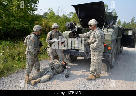 Soldiers of the 42d ID NYARNG, and 642 ASB during their mounted training exercise held on AUg 21st at Ft Drum. This - Stock Photo