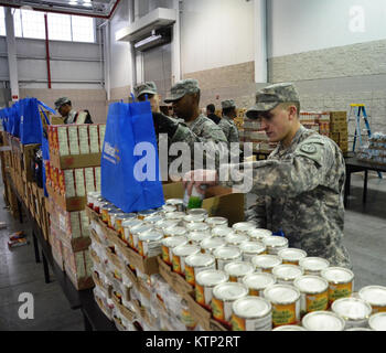 NYC- Service members from NY National Guard Joint Task Force Empire Shield, and 369th Sustainment Brigade participated - Stock Photo